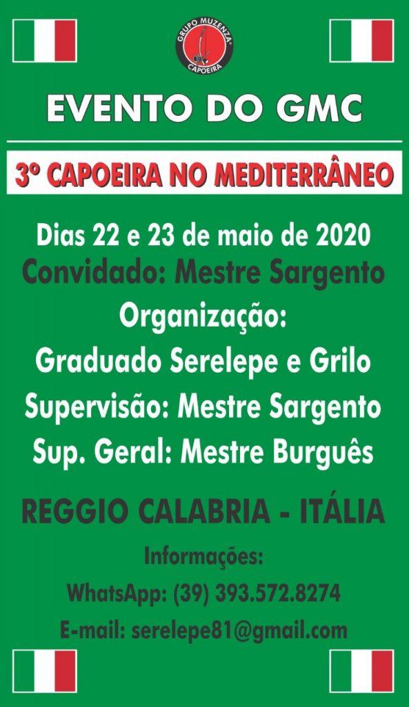 3º Capoeira no Mediterrâneo